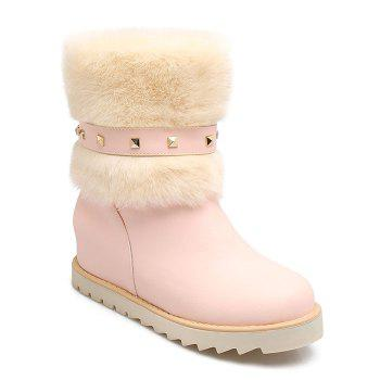 Faux Fur Studded Snow Boots