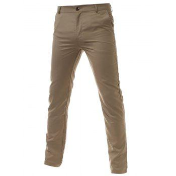 Slim Fit Zipper Fly Chino Pants