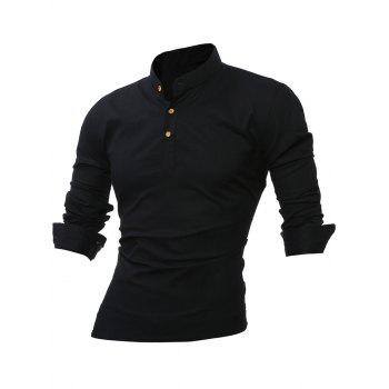 Collier Bouton à manches longues Mandarin Up Tee