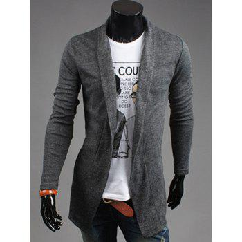 Shawl Collar Open Front Cardigan in Slim Fit
