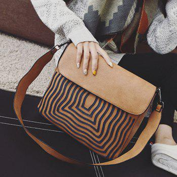 Textured PU Leather Growth Ring Crossbody Bag