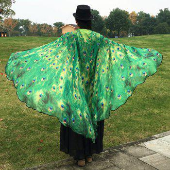 Peacock Feather Wing Cape Pashmina