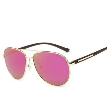 Alloy Bar Insert Pilot Mirrored Sunglasses