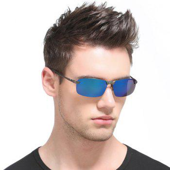Mirrored Rectangle Rimless Sunglasses