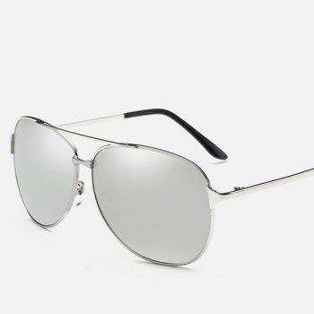 Cross-Bar Metal Pilot Mirrored Sunglasses