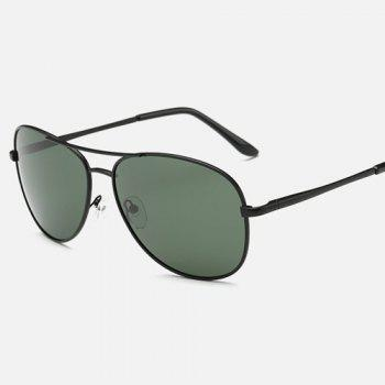 Blackish Green Lens Cross-Bar Pilot Sunglasses