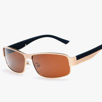 Driving Metal Rectangle Sunglasses