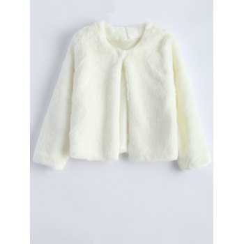 Short Shearling Faux Fur Jacket