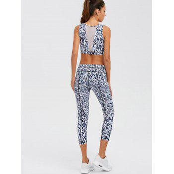 Leopard Print Mesh Insert Athletic Suit - XL XL