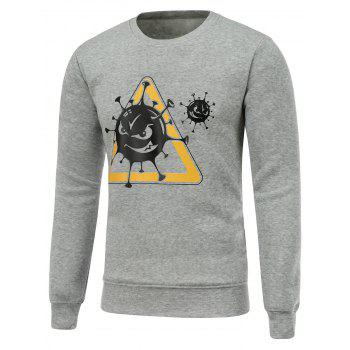 Buy Long Sleeves Printed Crew Neck Sweatshirt GRAY