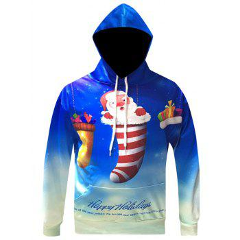 Christmas Pullover Cartoon Santa Printed Hoodie