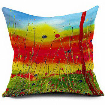 Artistic Painting Sofa Decorative Linen Pillowcase