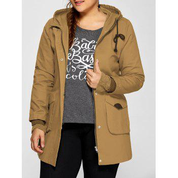 Double Pockets Utility Long Jacket with Hood