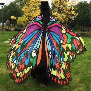 Butterfly Wing Cape Pashmina - COLORFUL
