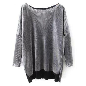 Metallic Color Oversized Top