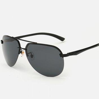 Chunky Leg Cross Bar Pilot Sunglasses - BLACK BLACK