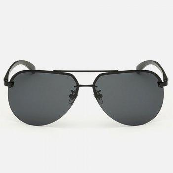 Chunky Leg Cross Bar Pilot Sunglasses -  BLACK