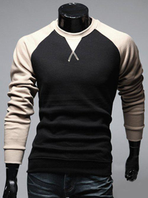 Slim Fit Two Tone Raglan Sleeve Sweatshirt