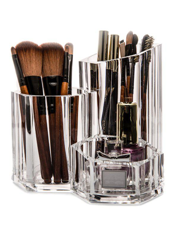 Acrylic Brush Holder Makeup Organizer - TRANSPARENT