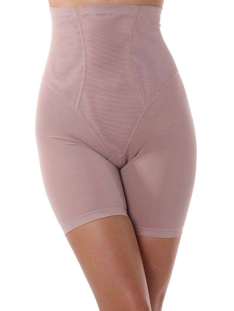 High Waist See-Thru Cut Out Panties - PINK 4XL