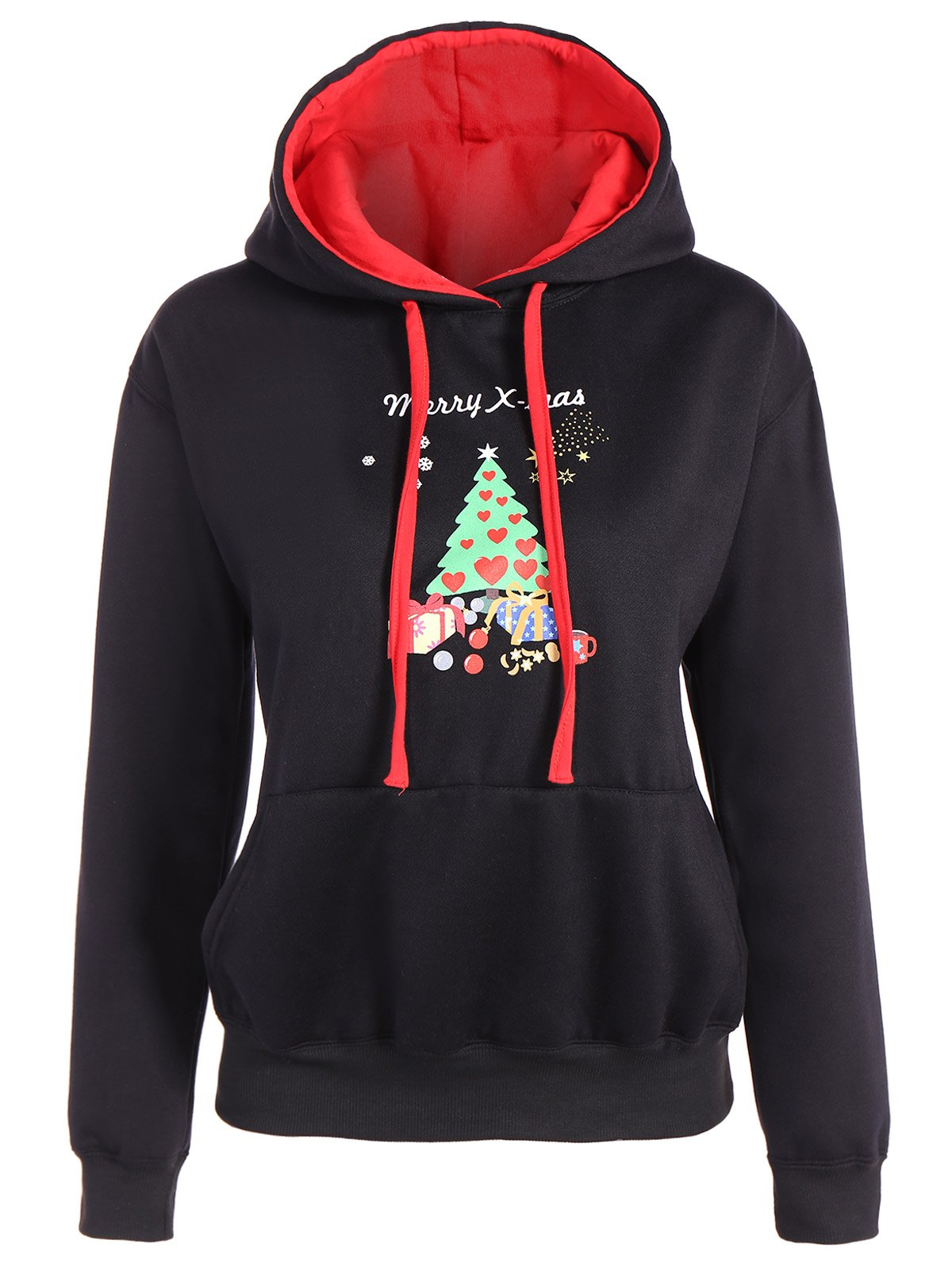 Christmas Graphic Hoodie - BLACK M