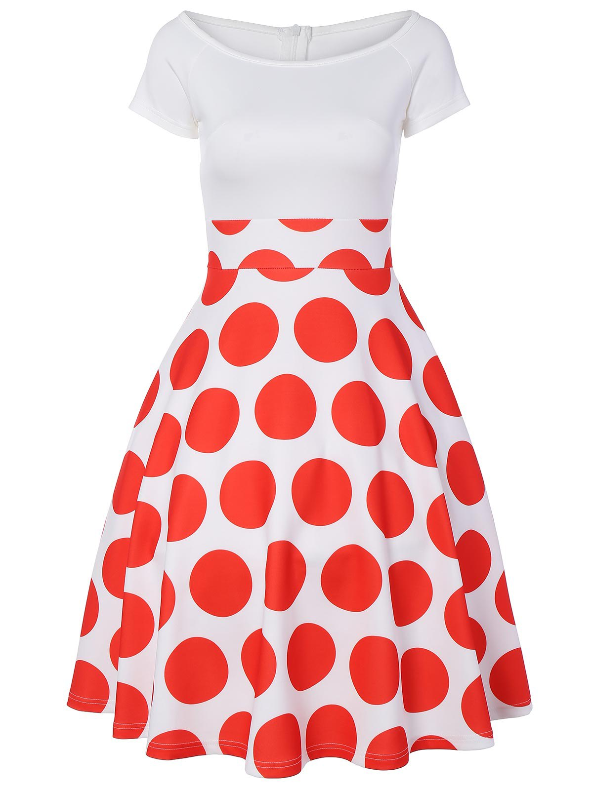 Off The Shoulder Polka Dot A Line Dress off shoulder polka dot top with splited dress