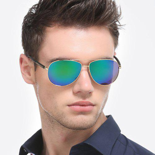 Alloy Bar Insert Pilot Mirrored Sunglasses - Vert