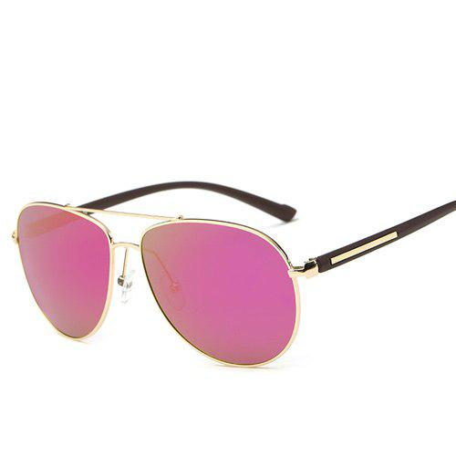 Alloy Bar Insert Pilot Mirrored Sunglasses - Pourpre Rosé