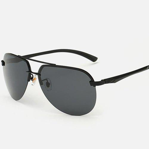 Chunky Leg Cross-Bar Pilot Sunglasses - Noir