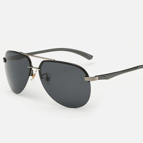 Chunky Leg Cross-Bar Pilot Sunglasses - Métal Pistolet
