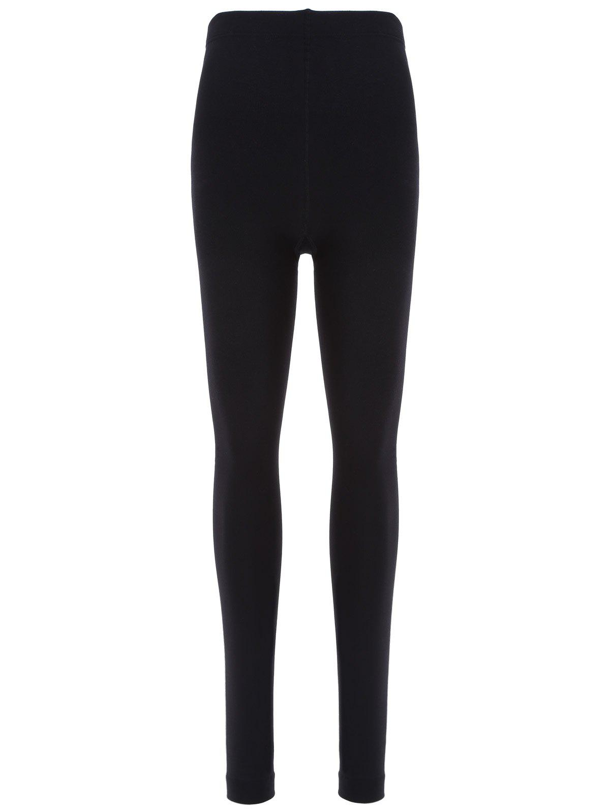 Footless Slim Leggings - BLACK ONE SIZE