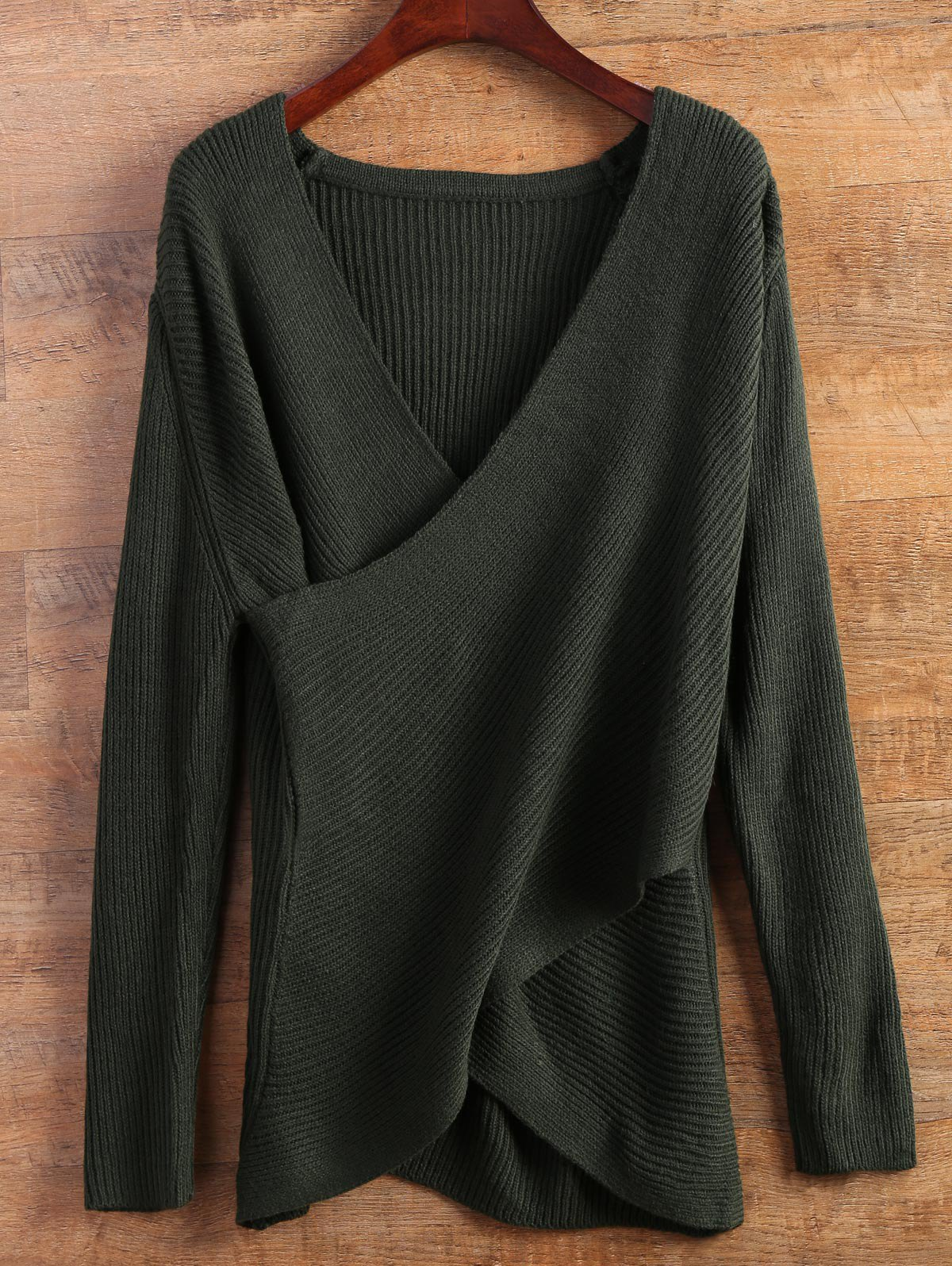цены Wrap Ribbed Layered Sweater
