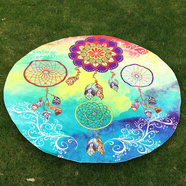 Dreamcatcher Imprimer Plage ronde Throw - Bleu ONE SIZE