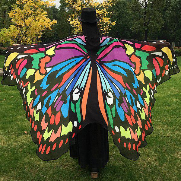 Butterfly Wing Cape Pashmina gradient color chiffon butterfly wing cape pashmina
