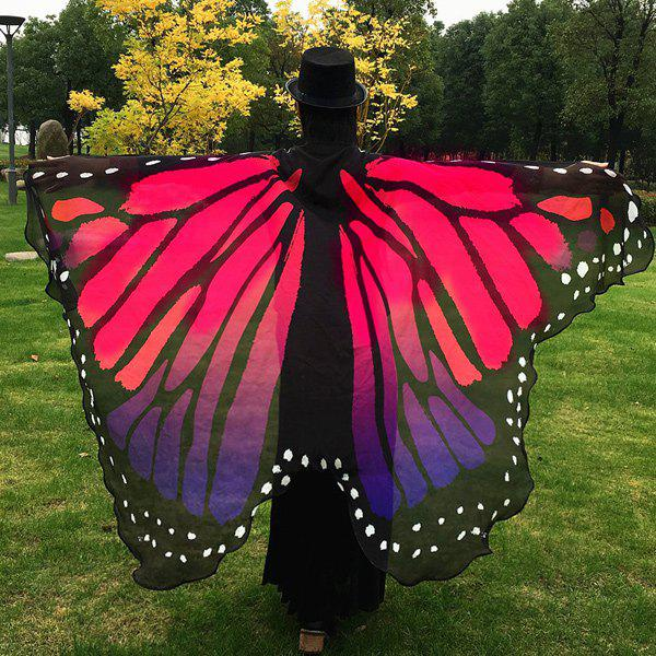 Butterfly Wing Cape Pashmina - RED