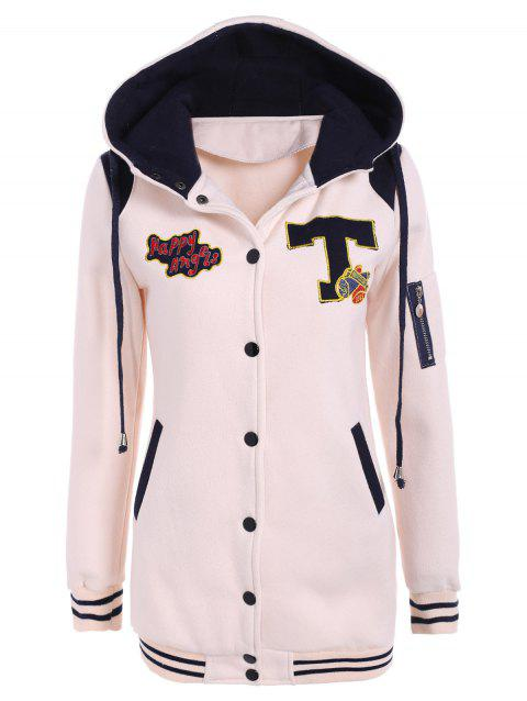 d639a83b852a 17% OFF] 2019 Graphic Hooded Drawstring Jacket In OFF WHITE L ...