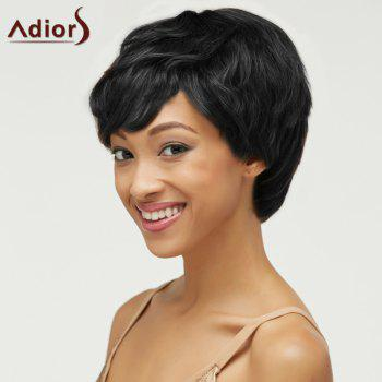 Fluffy Short Pixie Cut Haircut Curly Capless Synthetic Wig - BLACK