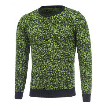 Round Neck Long Sleeve Texture Pullover Sweater