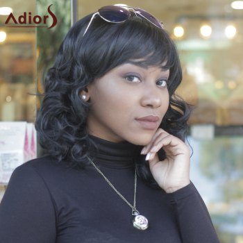 Women's Synthetic Fashion Full Bang Curly Wigs