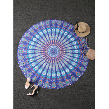 Tribal Totem Printed Round Beach Throw