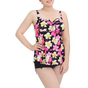 Cami Floral String Cut Out Tankini Set