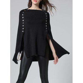 Slit Poncho Sweater