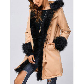 Faux Fur Hooded Parka Long Winter Jacket