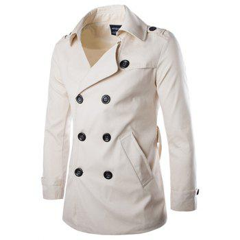 Back Vent Belted Epaulet Design Trench Coat