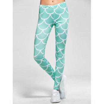 Fish Scale Print Mermaid Leggings