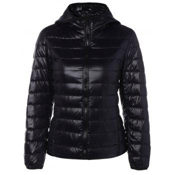 Zip Up Padded Down Jacket with Hood
