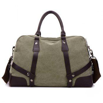 Zip Canvas Weekender Bag - ARMY GREEN ARMY GREEN