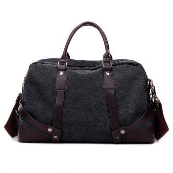 Zip Canvas Weekender Bag - BLACK BLACK
