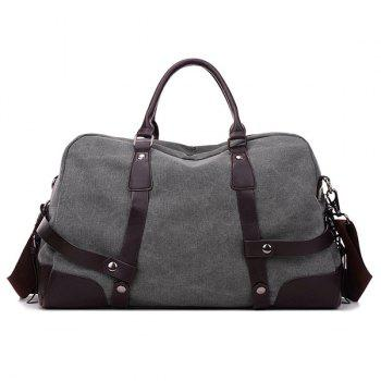 Zip Canvas Weekender Bag - GRAY GRAY