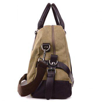 Zip Canvas Weekender Bag -  GRAY